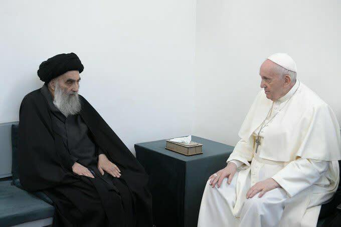 دیدار پاپ و ایت الله سیستانی